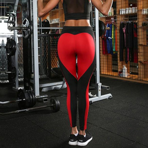 Popular Heart Shaped Fitness Leggings High Waisted Workout Leggings Yoga Tights Fitness Clothing
