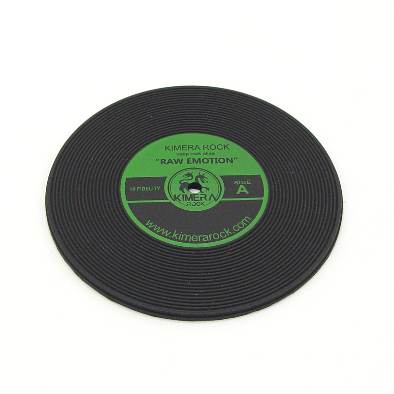 The new design eco-friendly custom silicone record drink coasters