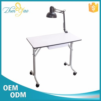 Beauty Mini Nail Salon Desk Manicure Table With Led Lamp Light