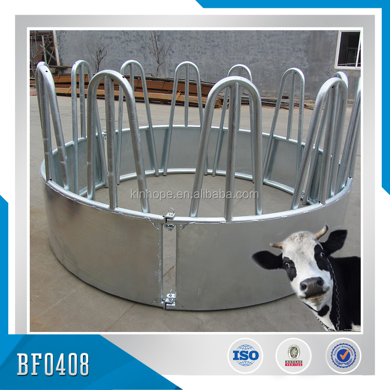 galvanized sheep/cattle bale feeder/round bale feeder