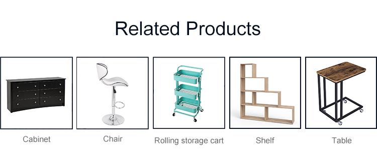 3-Tier Kitchen Metal Mesh Slim Storage Rolling Cart Trolley Furniture