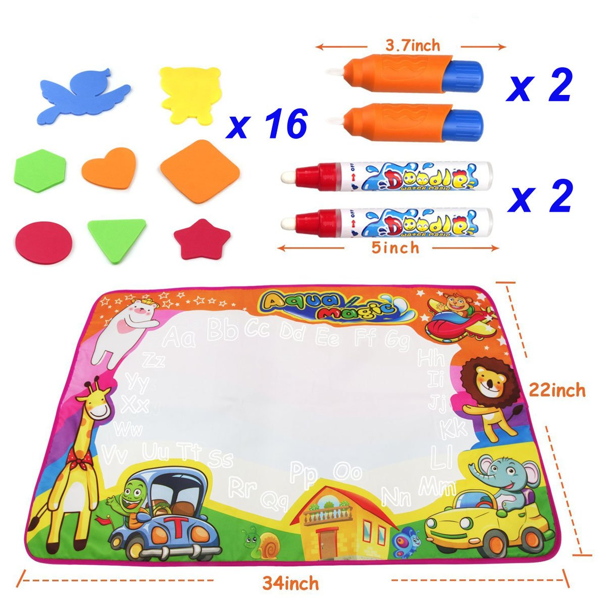 Notebooks & Writing Pads 100% Quality 1pcs Children Doodle Stencil Writing Painting Magnetic Drawing Board Set For Kids Learning & Education Toys Hobbies Clipboard