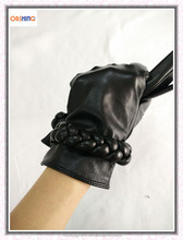 OEM Ladies Leather Gloves Winter for Daily Life Usage