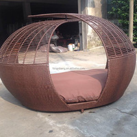 Hot sale All Weather Wicker Rattan Pool Side Sunbed Lounge Furniture Outdoor Furniture