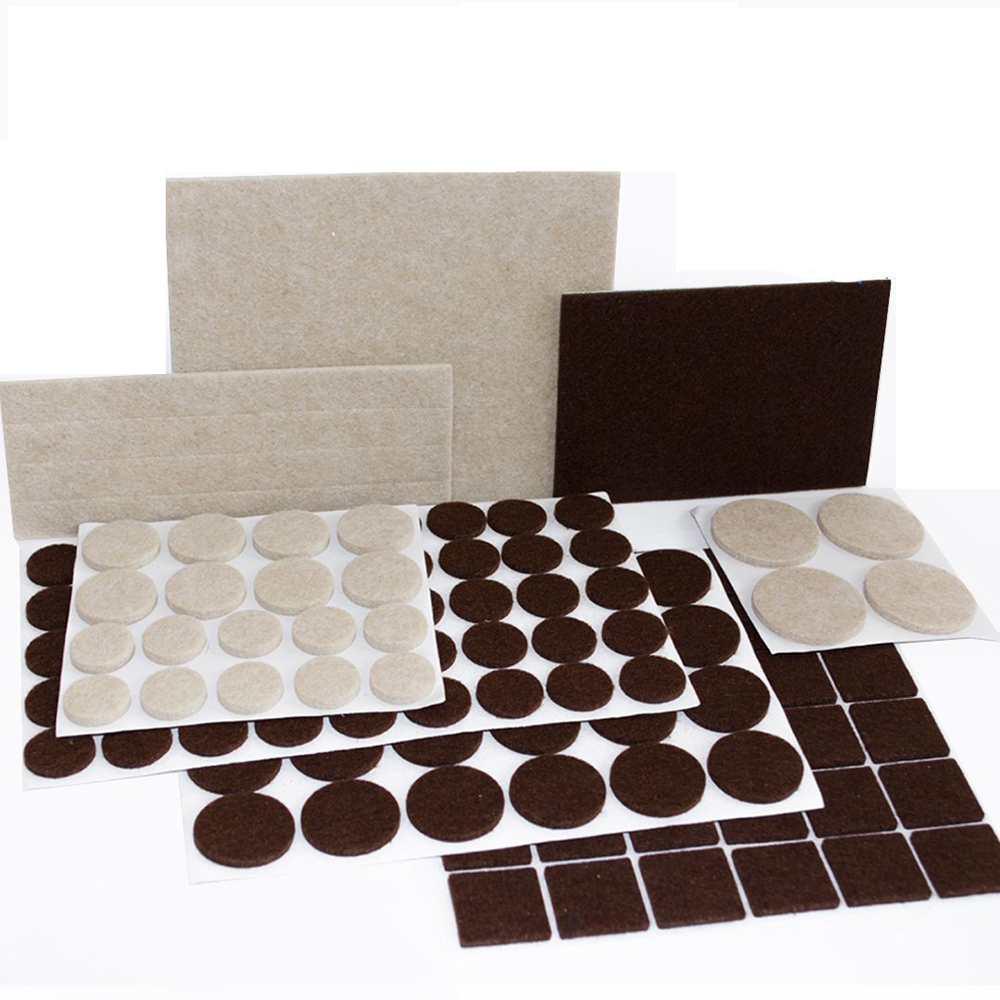 2019 Hot Sale Premium Furniture Pads Felt Pads Furniture Feet Brown and Beige various sizes BEST wood floor protectors