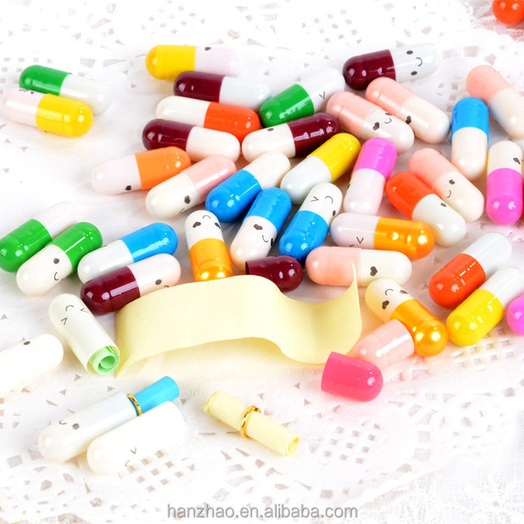 Novel Small Capsules Paper Letter inside Messages in A Capsule Gift Drug Shaped Love Gifts