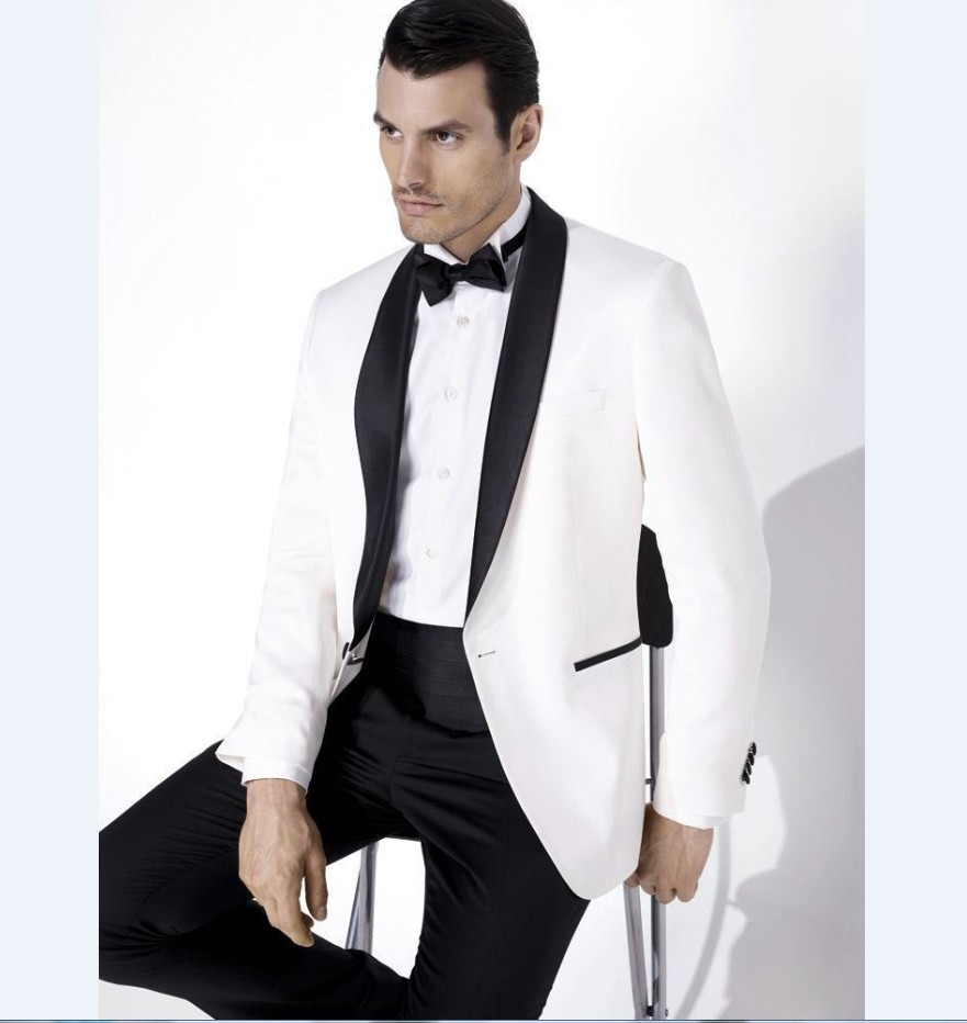 Veste smoking homme blanc
