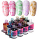 Queen Fingers C49 Fast drying 11 colors Nail Smudge Liquid Healthy Blooming Gel Color Ink Polish For Nail Decoration
