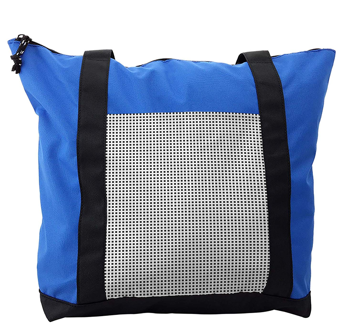 Lunarable Checkered Shoulder Bag, Little Square Frames Dots, Durable with Zipper