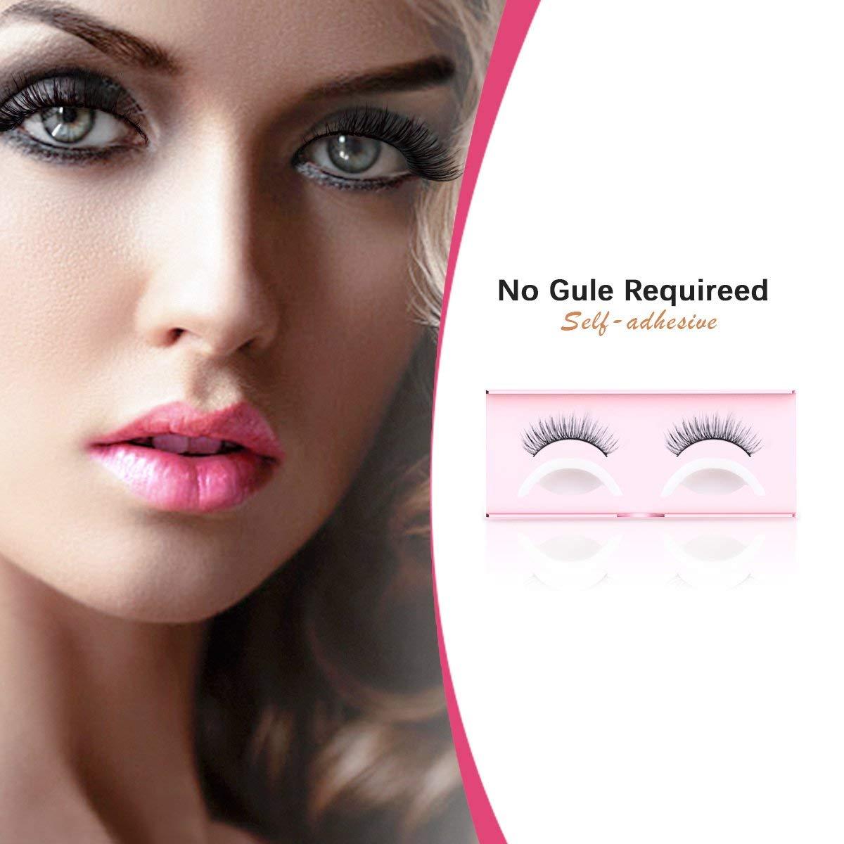 bddab0de88c Get Quotations · False Eyelashes Pack, FYPO Self-adhesive Fake Eyelashes  Set with Tape for Women,