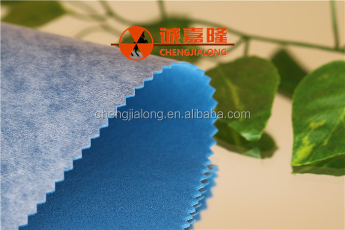 2017 China factory wholesale adhesive tricot flocked velvet fabric for Home textiles