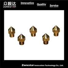 reprap 3D printer Extruder Nozzle For 1.75MM and 3mm filament Mixed Sizes 0.3mm 0.4mm compliant with ultimaker MK6 MK7 MK8