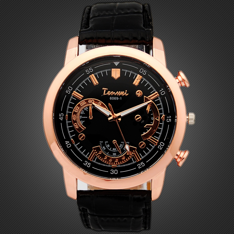 2015 Men Fashion Watches Luxury Brand Casual PU Leather Quartz Watch Army Military Antique Dress Wristwatch