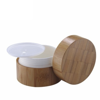 cosmetic packaging 10g 20ml 50ml 100g 200g cream container natural wood jar dark bamboo jar with lid