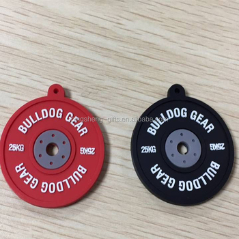 Crossfit Bumper plate weight keyring