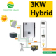 Easy installation 3kw hybrid hybrid solar wind power generation system