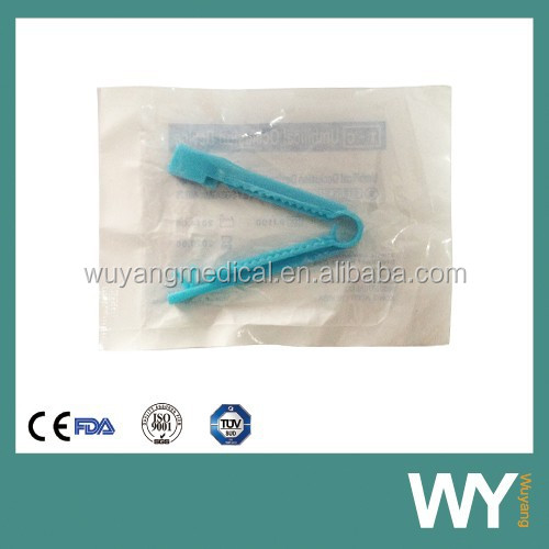 Surgical Disposable Blue Pink White Umbilical Cord Clamp for New Born