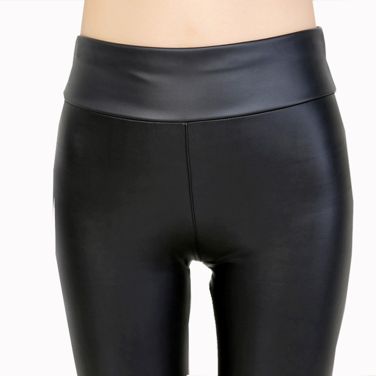 Lente modellen grote size vrouwen fashion Black Faux pu Leather stretch Legging Groothandel Snoep Kleuren Pu Leggings Voor Vet vrouwen