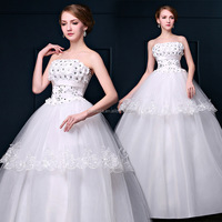 Designer Wedding Gowns Real SampleHeavy Beading Lace 2016 New design Ball Gown