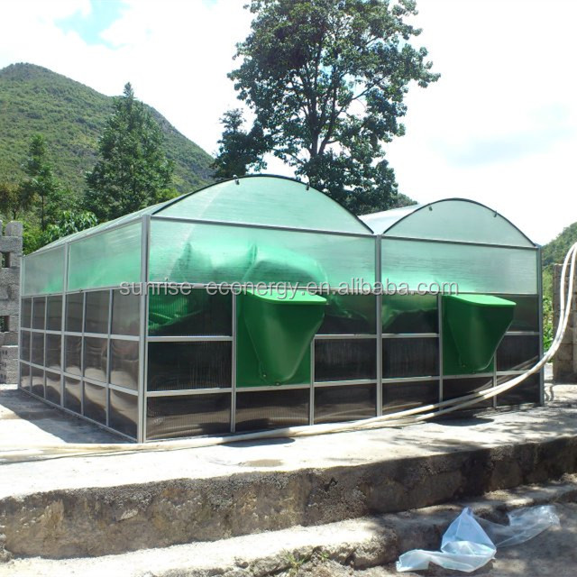 Sunrise assembly fast install biogas digester for farms and schools to turning waste into clean energy