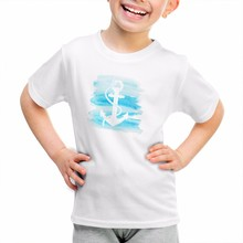 casual fashion cartoon digital printing OEM service child cotton creative popular summer shoot sleeve t shirt