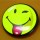 Smile face 58mm round tin button badge with pin custom design for wholesale
