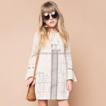 341bff11de8622 Z92601A 2017 New Spring Model Girl s Long Dress Flower Baby Dress Children  Frock Designs Dress