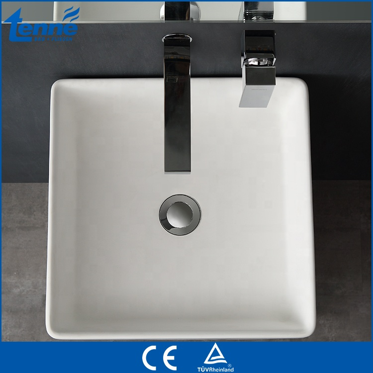 Tenne design cast stone floor mounted wash solid surface basin