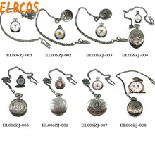 HOT Anime Naruto Reborn One piece Bleach konan Fullmetal Alchemist skull Pocket Watch Fans Cosplay Collectibles Toy