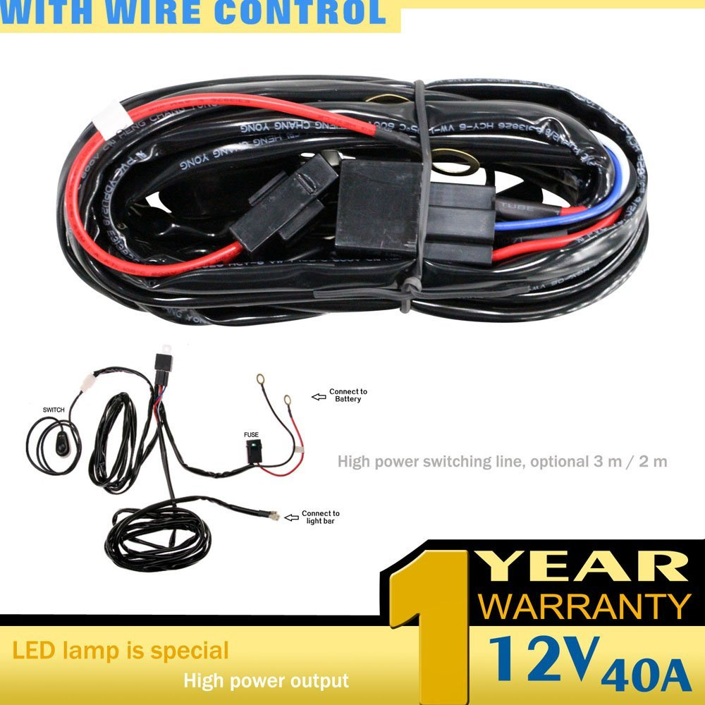 Cheap Relay For Car Lights Find Deals On Line Wiring Work Get Quotations Sufe 1pcs One To Universal Led Light Bar Wire Harness Offroad Suv Atv Boat