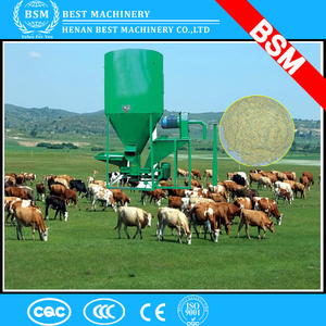 Africa farm use vertical goat feed crushing and mixing machine/goat feed mixer machine