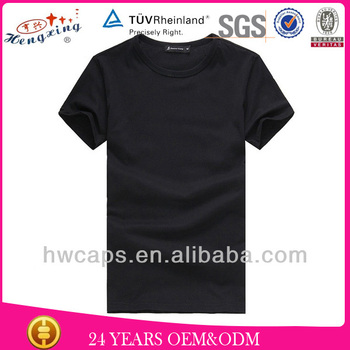 Custom Promotional Plain Blank Cotton T-shirt No Label