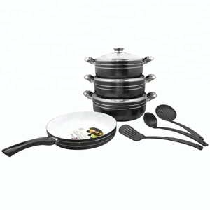 aluminum white ceramic wholesale cooking cookware set