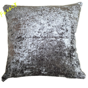 Fancy crush velvet cushion cover solid color decoration pillow super soft