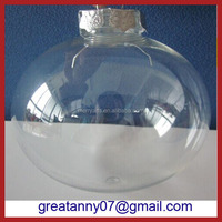 2016 yiwu wholesale xmas items christmas ornament clear plastic acrylic fillable ball ornament 80mm