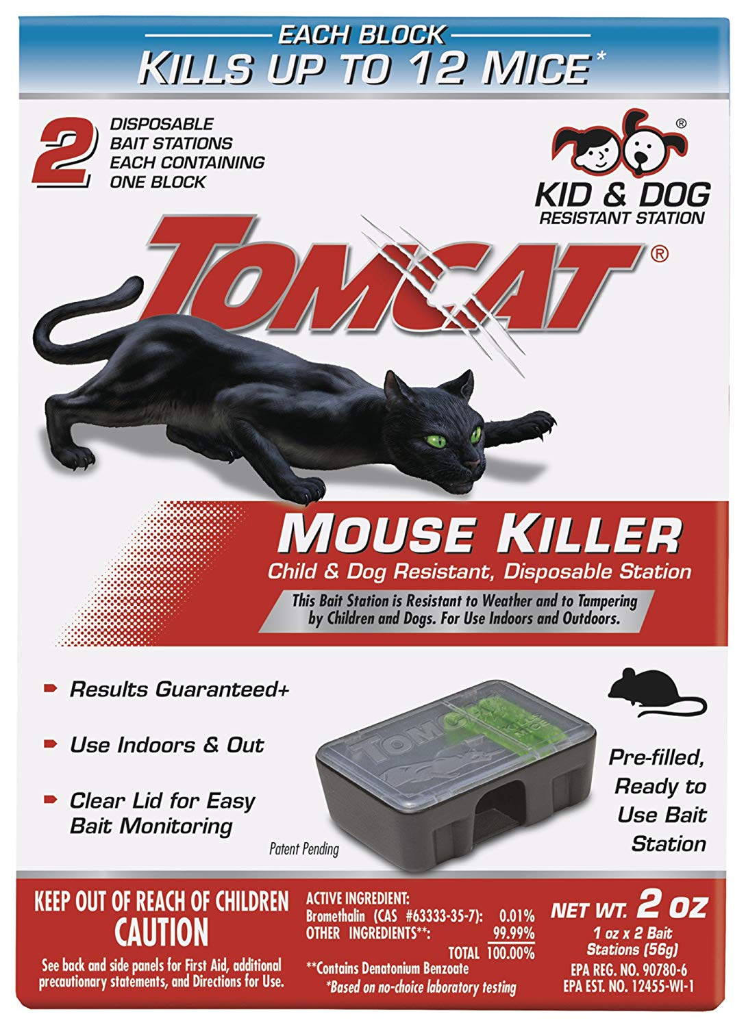 Tomcat 370710 Mouse Killer Child & Dog Resistant, Disposable Station