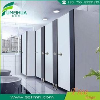 High Pressure Laminate Wood Grain Bathroom Partition Buy Bathroom - Laminate bathroom partitions