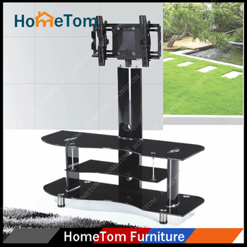 Metal Glass Material Modern Style LCD TV Stand With Showcase