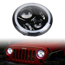 Super Bright 7 Inch DRL Halo RGB LED Headlight Conversion Kits For Jeep Wrangler Jk TJ Hummer Trucks Motorcycle Headlamp