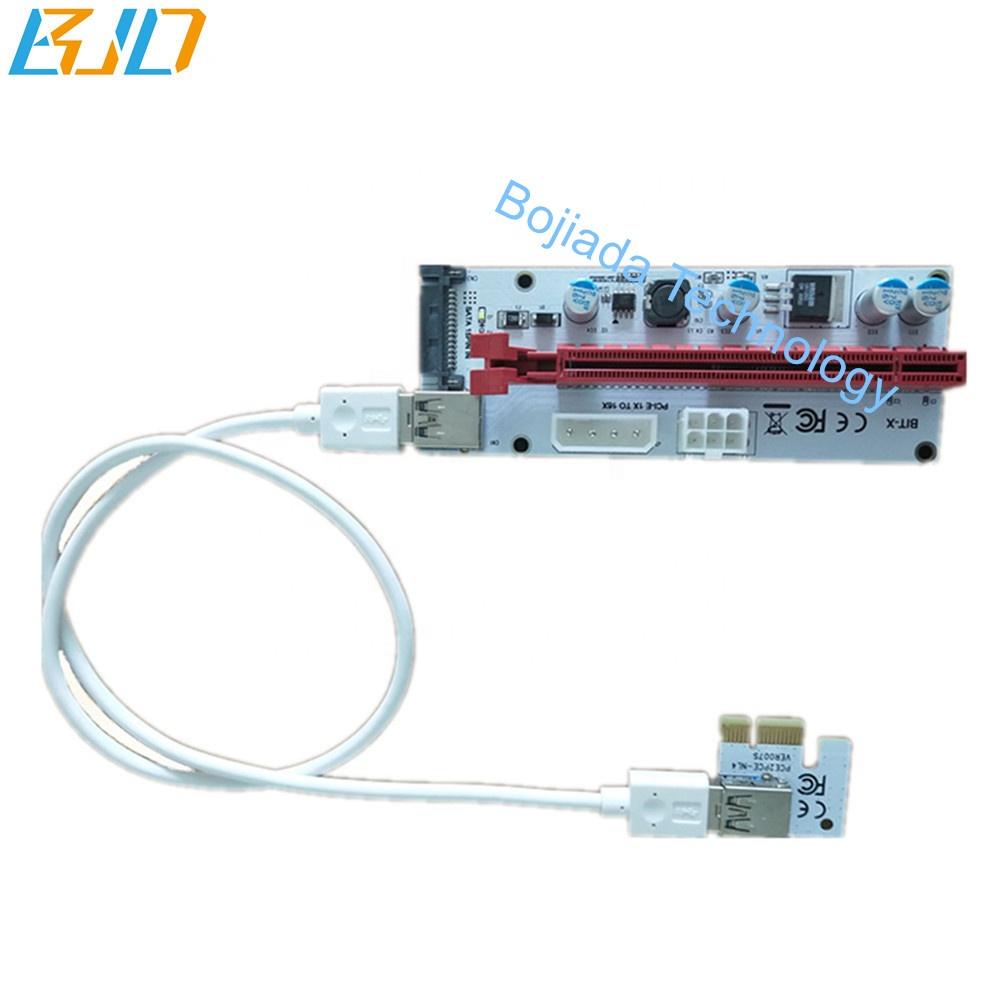 PCIe PCI-E Riser with 4Pin SATA 6PIN power interface - BIT-X GPU risers in stock фото