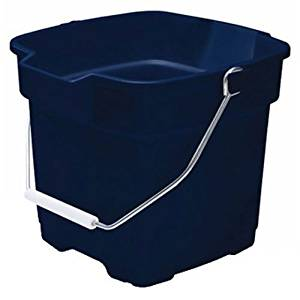Rubbermaid FG287100ROYBL Roughneck Square Bucket, 15-Quart, Blue