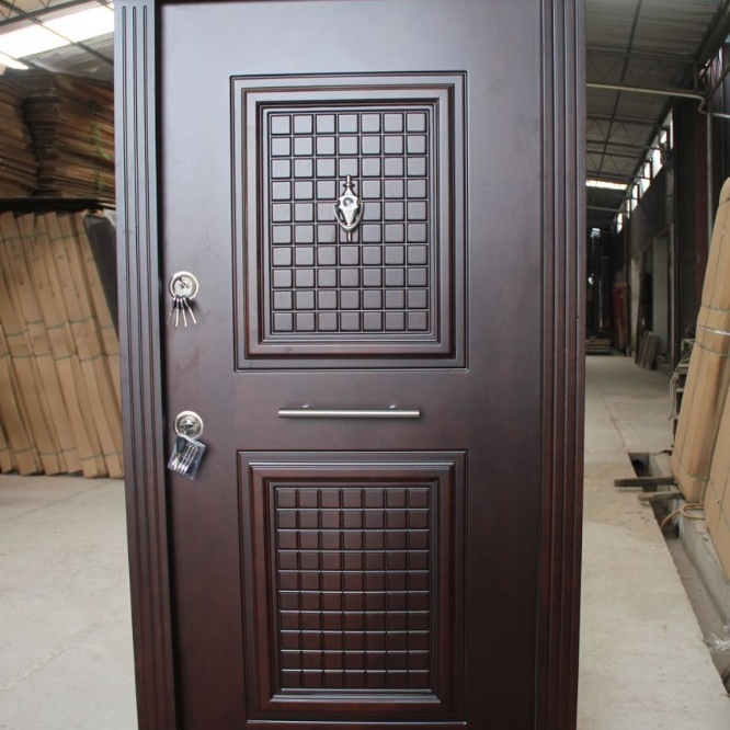 Nice quality finished turkey armored <strong>door</strong> with quality hardware set sale in guangzhou