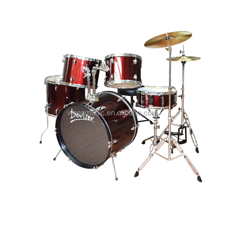 Atacado musical instrumentos drum set professional made in china