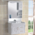 Hangzhou white PVC chrome bathroom  cabinet vanities