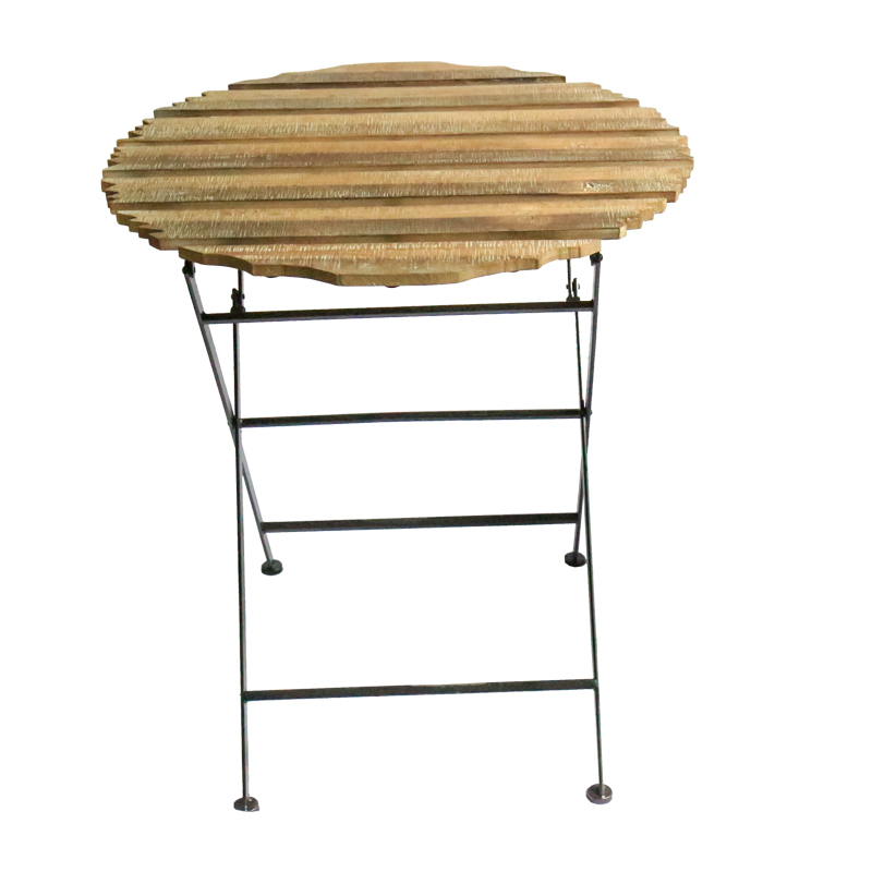 Best-Selling Outdoor Metal Foldable Wooden <strong>Table</strong> For Garden