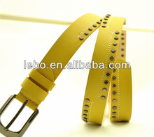 metal studded ladies pu leather belts
