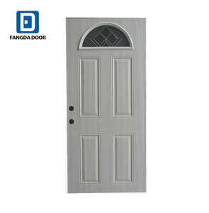 Fangda good quality steel Arched french door