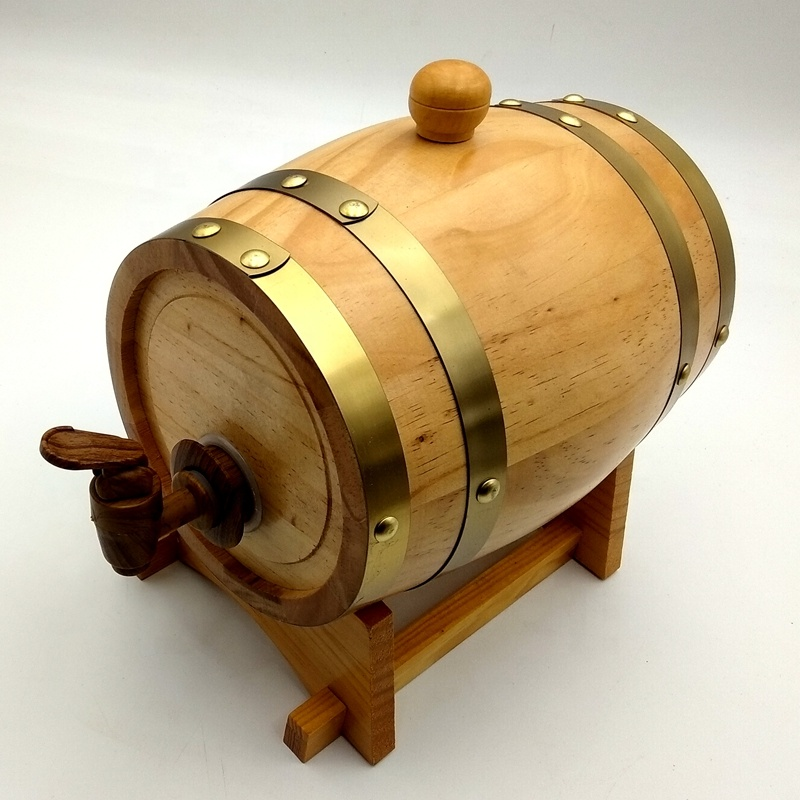 3L Pine <strong>wood</strong> barrel with custom logo