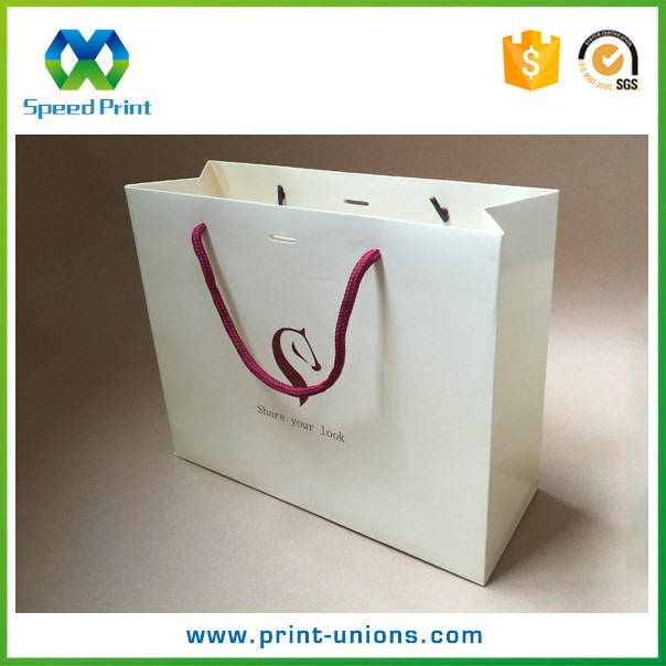White Paper Bag String 250 Gsm Paper Bag Small Quantity Paper Bag ...