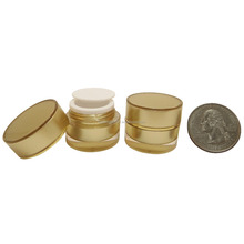 2 stücke 5 gr Acryl Kunststoff Doppelwand Gold Gläser Topf Make-up Creme Kosmetik Lotion Container (AY190 (5) Gold-C = 2 stücke)
